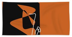Saxophone In Orange Hand Towel by David Bridburg