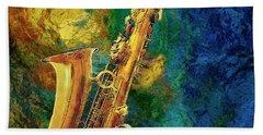 Saxophone Hand Towel