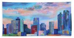 Bath Towel featuring the painting Say Nice Things About Detroit by Shadia Derbyshire
