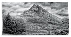 Scafell Pike In Greyscale Bath Towel