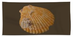 Scallop Shell With Guests Transparency Hand Towel