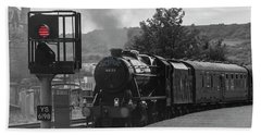 Scarborough Spa Express  Departs For The Sidings Hand Towel
