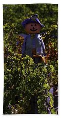 Scarecrow In The Vineyards Hand Towel