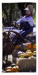 Scarecrow On Tractor Hand Towel