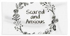Scared And Anxious- Art By Linda Woods Hand Towel