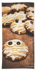 Scared Baking Mummy Biscuit Hand Towel