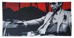 Scarface - Sunset 2013 Hand Towel by Luis Ludzska