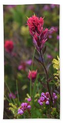 Hand Towel featuring the photograph Scarlet Paintbrush by David Chandler