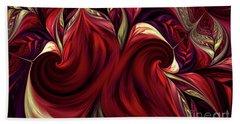 Hand Towel featuring the digital art Scarlet Red by Deborah Benoit