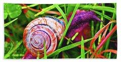 Scarlet Snail Bath Towel by Adria Trail