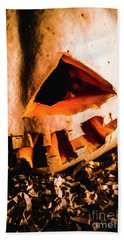 Scary Jack O Lantern. Halloween Faces Bath Towel