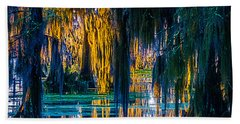 Scary Swamp In The Daytime Bath Towel by Kimo Fernandez