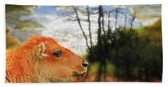 Scenic Buffalo Calf Bath Towel by Suzanne Handel