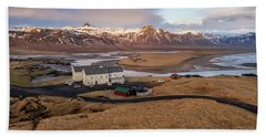 Bath Towel featuring the photograph Scenic View Of Iceland by Pradeep Raja PRINTS
