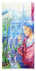Scent Of Hyacinths Hand Towel