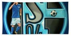 Schalke 04 Gelsenkirchen Painting Hand Towel