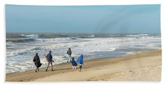 Scheveningen Beach Netherlands Bath Towel by Hans Engbers