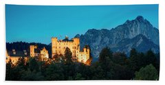 Bath Towel featuring the photograph Schloss Hohenschwangau by Brian Jannsen