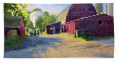 Schober's Barn At Sunset Hand Towel