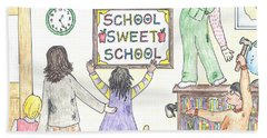 School Sweet School Hand Towel