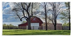 Bath Towel featuring the photograph Schooler Road Barn by Cricket Hackmann
