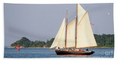 Hand Towel featuring the photograph Schooner Cruise, Casco Bay, South Portland, Maine  -86696 by John Bald
