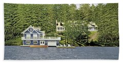 Hand Towel featuring the painting Schultz Summer Home Muskoka by Kenneth M Kirsch
