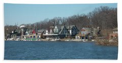 Bath Towel featuring the photograph Schuylkill River - Boathouse Row In Philadelphia by Bill Cannon