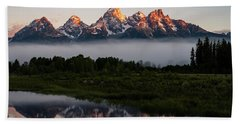 Schwabacher Landing Sunrise Hand Towel by Serge Skiba