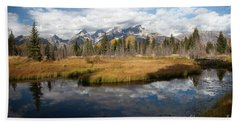Schwabachers Landing, Grand Teton National Park Wyoming Hand Towel