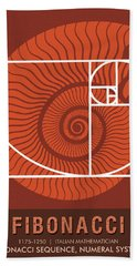Science Posters - Fibonacci - Mathematician Bath Towel