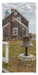 Scituate Lighthouse And Us Lighthouse Service Bell Bath Towel
