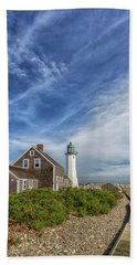 Scituate Lighthouse Boardwalk Bath Towel