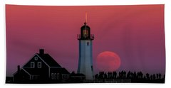 Scituate Supermoon Hand Towel