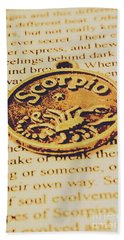 Scorpio Star Sign Token Hand Towel