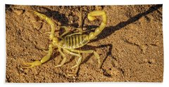 Bath Towel featuring the photograph Scorpion by Robert Bales