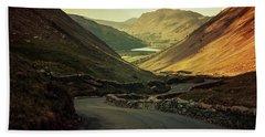 Scotland At The Sunset Bath Towel by Jaroslaw Blaminsky