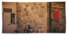 Bath Towel featuring the photograph Scotland Glenlivet Post Office by Mary-Lee Sanders