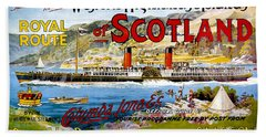 Scotland, Royal Route, Steamboat, Travel Poster Bath Towel