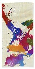 Scott Weiland Paint Splash Hand Towel