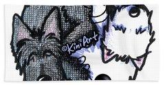 Scottie Westie Yin Yang Hand Towel
