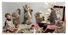 Scottish Fold Cats Bath Towel by Evgeniy Lankin