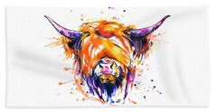 Scottish Highland Cow Hand Towel