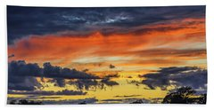 Hand Towel featuring the photograph Scottish Sunset by Jeremy Lavender Photography