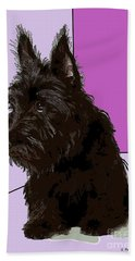 Scottish Terrier Hand Towel by George Pedro