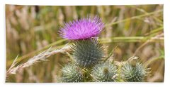 Bath Towel featuring the photograph Scottish Thistle by Chris Coffee