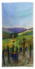 Scotts Vineyard Bath Towel by Donna Walsh