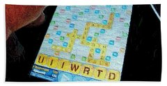 Scrabble Hand Towel by Ron Bissett
