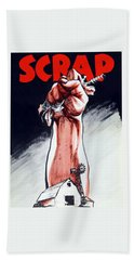 Scrap - Ww2 Propaganda Bath Towel