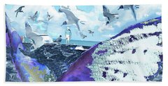 Scream Of The Gulls Hand Towel by Seth Weaver